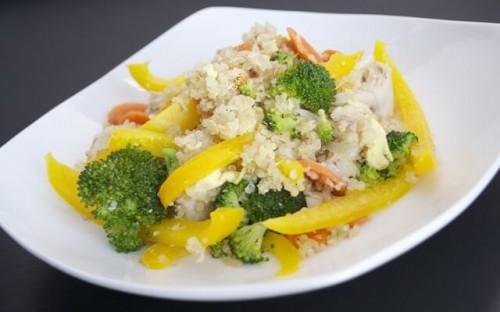 Chicken and Vegetable Quinoa Stir-fry