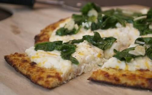 Three-Cheese Cauliflower Pizza